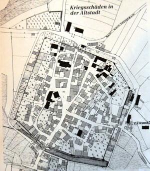 a Karte - Kriegsschäden in der Altstadt