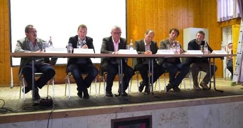 a Diskussionsteilnehmer Podiumsdiskussion Merkendorf
