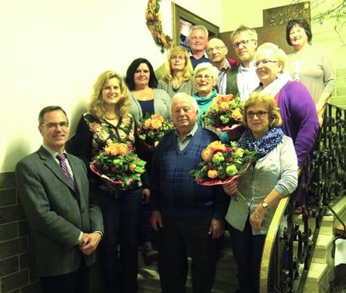 a Gruppenbild Vorstandschaft und Jubilare Krankenpflegeverein MKD