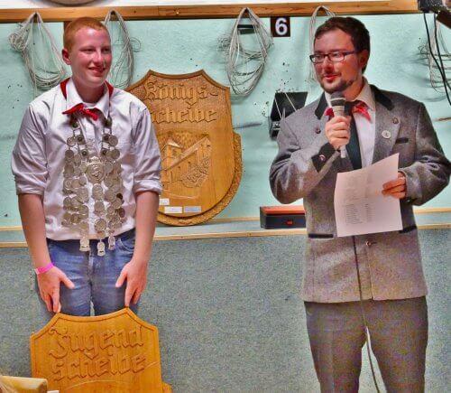 Martin Meyer Schützenmeister und Jungschützenkönig Sebastian Ittner